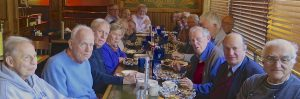 Providence Journal retirees meet for lunch regularly. At the Nov. 2016 event, from left around the table, Bill Troberman, Tim Colt, Jack Monaghan, Evelyn Ungaro, Frank Prosnitz, Gerry Goldstein, Charlie Bakst, Marty Funke, Kerry Kohring, Jeanne Edwards, Linda Levin, Len Levin, Bob Chiappinelli, Brian Jones, Fraser Smith, Jim Marshall, Dick Dujardin and Dante Ionata.